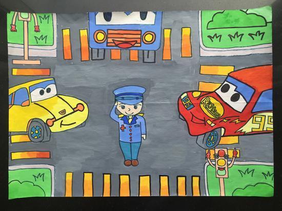 宁波交警首届 文明出行 儿童绘画作品展