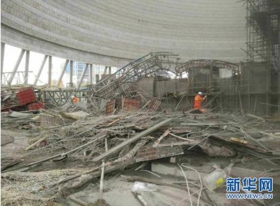 丰城电厂三期在建冷却塔施工平台倒塌事故死亡人数已
